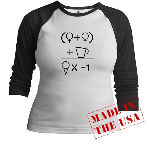 Two Girls Equation Tee Shirt